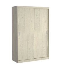 guarda roupa 02 portas de correr 813 marfim areia m foscarini off-white