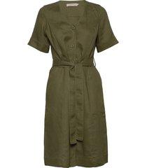 dress short sleeve knälång klänning grön noa noa