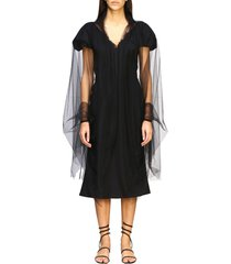 ermanno scervino neck scarf ermanno scervino scarf cape in sheer tulle