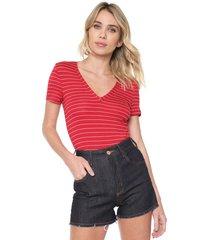 camiseta forum listrada vermelha/branca