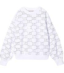 alberta ferretti white sweatshirt