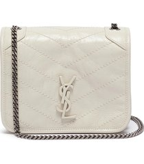 'niki' crinkled leather chain wallet