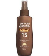 óleo protetor solar spray fps15 cenoura e bronze 110ml