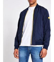 mens jack and jones navy reversible bomber jacket