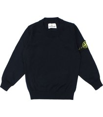 stone island blue cotton sweater