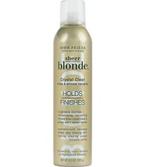 john frieda sheer blonde crystal clear holds finishes - spray fixador 240g