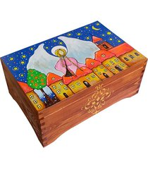 kufer ręcznie malowany z aniołem