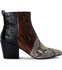 crew snakeskin-print leather booties