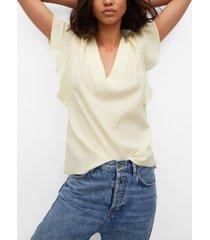 mango women's bow textured blouse