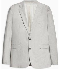 mens grey stone slim fit single breasted blazer with notch lapels