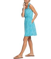 roxy juniors' low tide cotton strappy dress