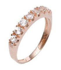 anel feminino manu em ouro rosé
