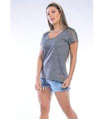 camiseta manga curta summer breeze cia gota feminina - feminino