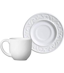 jogo de xícaras de café 12 pçs branco porto brasil