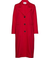 area dunne lange jas rood libertine-libertine