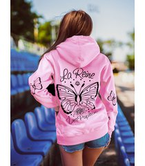 różowa bluza królowa motyli