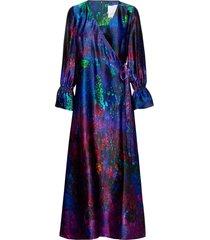 reidar wrap silk dress maxiklänning festklänning multi/mönstrad hálo