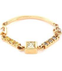 'astro' diamond 18k gold ring