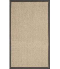 safavieh natural fiber natural and gray 3' x 5' sisal weave rug