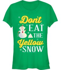 fifth sun elf don't eat the yellow snow quote juniors short sleeve t-shirt