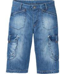 bermuda di jeans lungo loose fit (blu) - rainbow