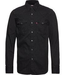 barstow western standard marbl skjorta casual svart levi´s men