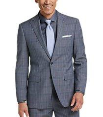 calvin klein x-fit gray plaid slim fit suit