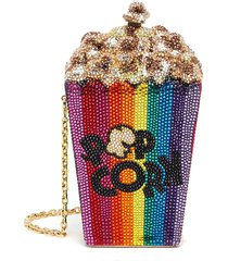 popcorn main feature' crystal embellished crossbody bag