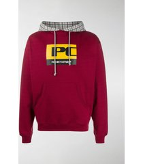 paccbet graphic-print contrast hoodie