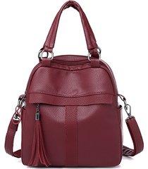 zaino da viaggio multifunzionale per borsa da donna soft crossbody in pelle borsa