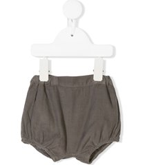 knot corduroy basic shorts - grey