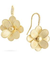 women's marco bicego pateli diamond flower drop earrings