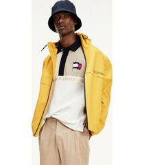 tommy hilfiger men's hooded tech jacket courtside yellow - xxl