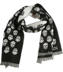 alexander mcqueen reversible upside down skull scarf