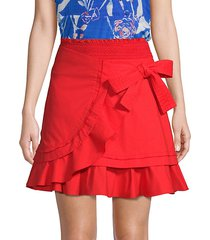 dawson wrap poplin mini skirt