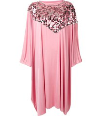 mm6 maison margiela sequin trim cape dress - pink