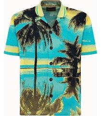 roberto collina camicia in cotone caraibi