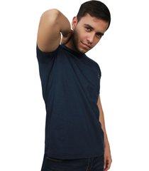 camiseta hombre summer azul bordado clásico
