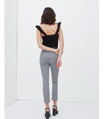 pantaloni skinny fantasia vichy