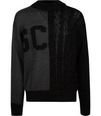 gcds woven logo sweater