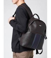 ted baker men's brann webbing backpack - brown/chocolate
