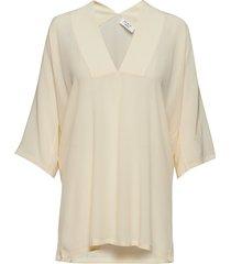 day fan blouses short-sleeved crème day birger et mikkelsen