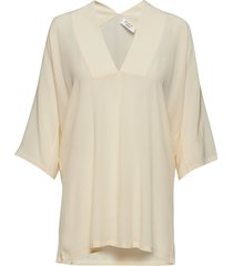 day fan blouses short-sleeved crème day birger et mikkelsen