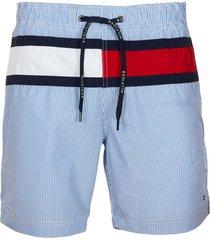 traje de baño ithica stripe flag azul tommy hilfiger