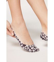 calzedonia fashion invisible socks woman black size tu