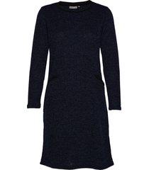frfinew 3 dress knälång klänning blå fransa