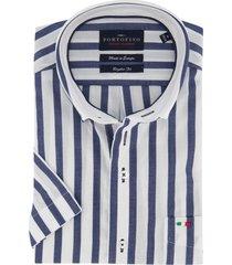 korte mouw portofino overhemd strepen
