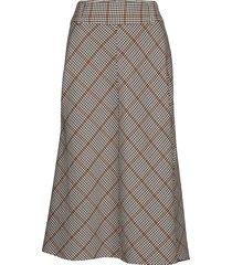 dhcolombia skirt light woven knälång kjol multi/mönstrad denim hunter