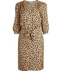 rebecca taylor women's cheetah-print blouson dress - cappuccino - size 0