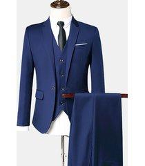 abito completo formali a 3 pezzi slim fit